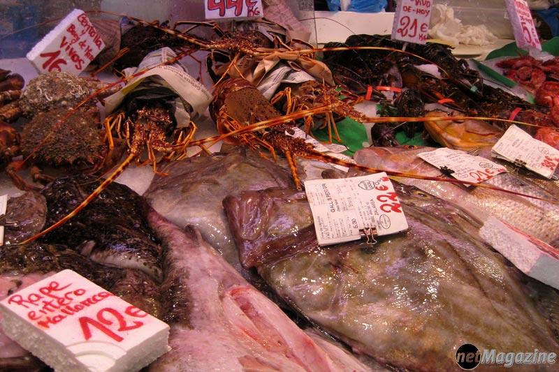 "Meeresfrüchte im ""Überfluss"" - Mercat de l´Olivar"